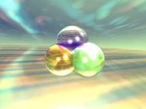 Molecular modello olografico
