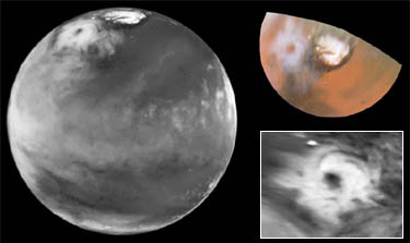 Uragano Gigante su Marte (NASA/HST 1999)