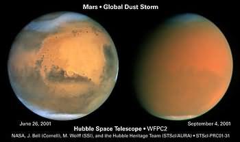 Tempesta di povere grande quanto il pianeta su Marte