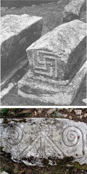 Due Esempi di Stècac con simbolismo solare