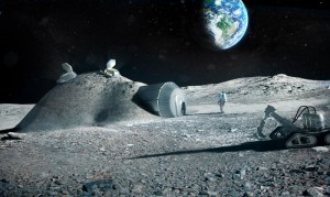 Lunar base made with 3D printing - stampanti 3D