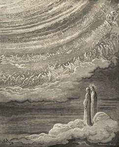 Dante e Beatrice contemplano l'Empireo dal Primo Mobile, visti da Doré