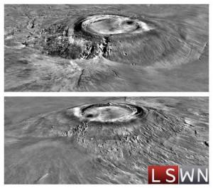 Il vulcano Arsia Mons su Marte