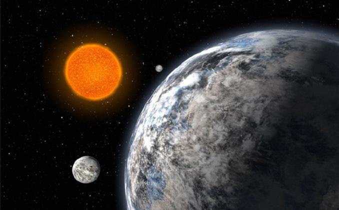 sistema solare con super terre