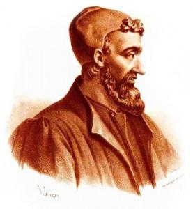 Galeno di Pergamo (ca. 130-210 d.C.) Litografia di Pierre Roche Vigneron, Lith de Gregoire et Deneux, ca. 1865. Fonte: Wikipedia