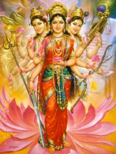 Devi - Dipinto di V.V. Sagar