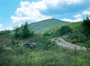 La cima di Glyamo Gradishte che si dice sembri ad una piramide
