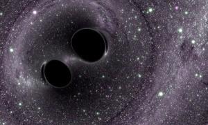 Rappresentazione artistica di due buchi neri