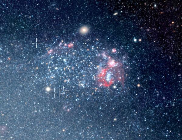 Variabili Cefeidi nella galassia NGC 300 fotografate dai telescopi dello European Southern Observatory (ESO) (Cortesia ESO)