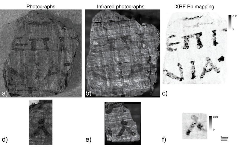frammenti di papiro di Ercolano esaminati