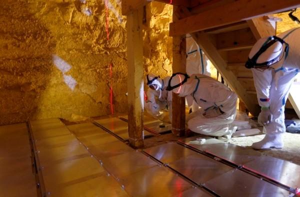 fig 4 installazione delle 40 piastre