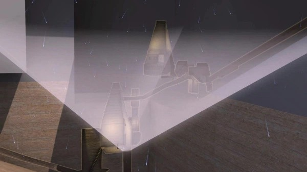 fig 8 Ricostruzione artistica della pioggia di muoni