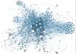 Rappresentazione schematica dei collegamenti di una rete sociale. Crediti: Wikimedia Commons