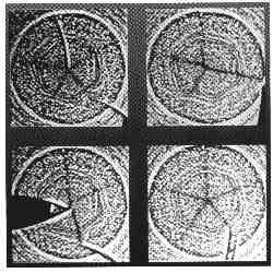 Anomalie del polo nord di Saturno, che mostrano la forma esagonale e un movimento vorticoso
