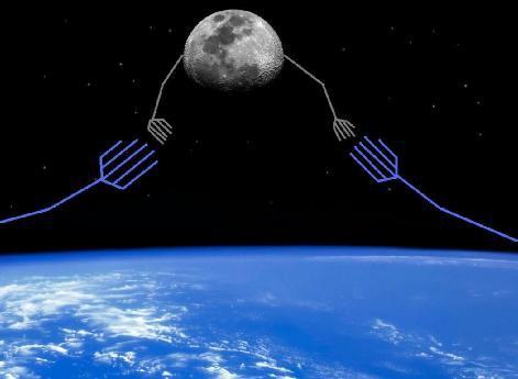 La luna e la materia oscura