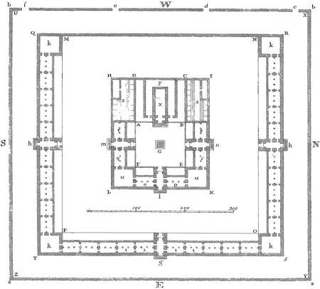 Tempio di Re Salomone –Planimetria disegnata da Isacco Newton