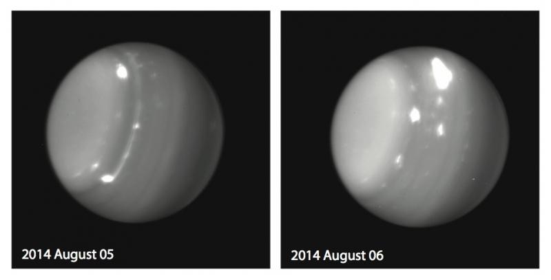 Misteriose tempeste nell'atmosfera di Urano
