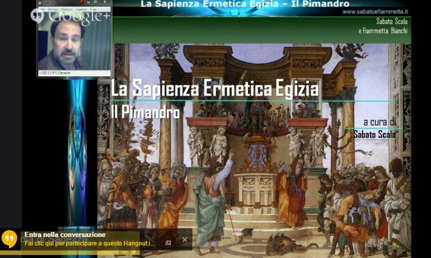 Sabato Scala: La Sapienza Ermetica Egizia – Il Pimandro