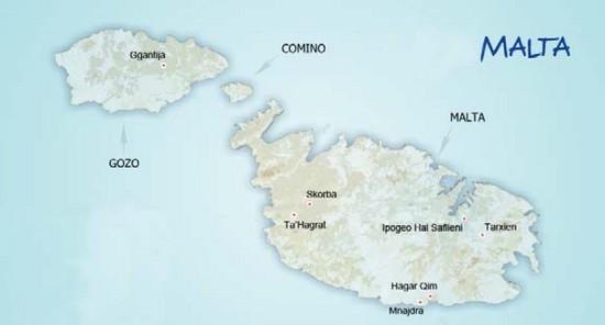 cartina2 Malta e Gozo
