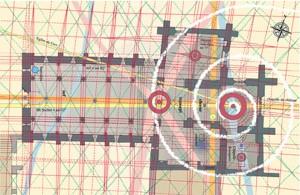 la planimetria della chiesa di Grandson