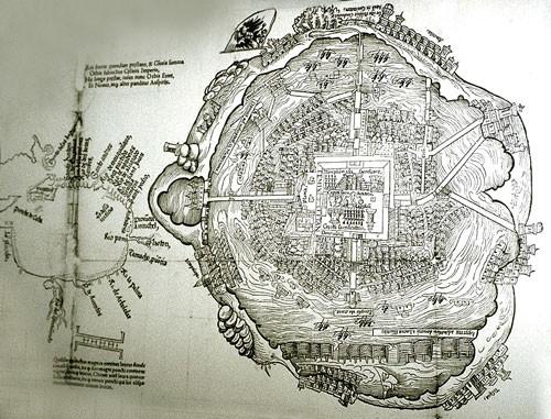 Tenochtitlán mappa