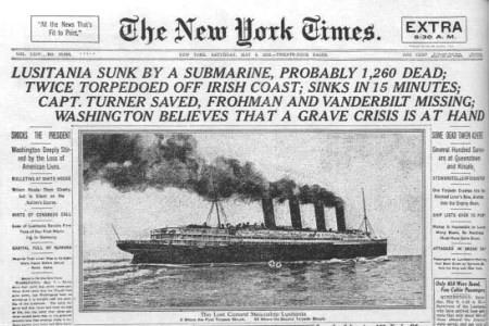 piroscafo americano Lusitania