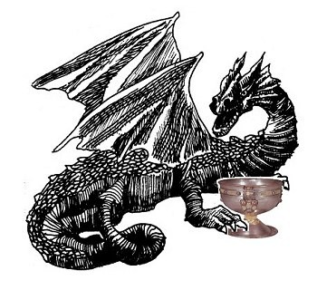un drago custodisce il Graal