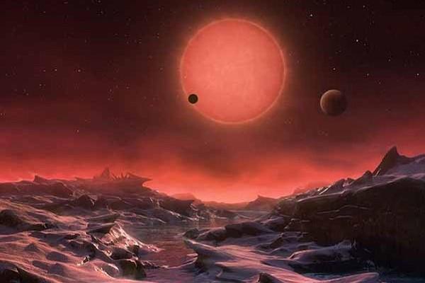 TRAPPIST immaginario panorama TRAPPIST-1