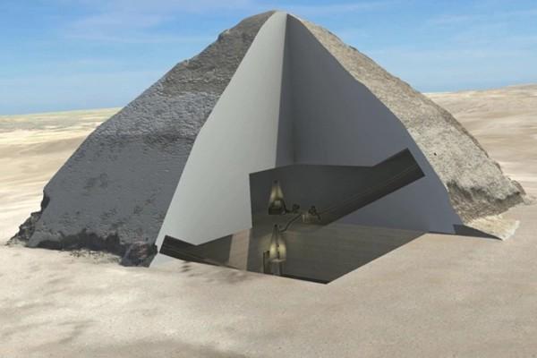 fig 1 sezione 3D della piramide romboidale