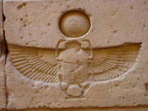 scarabeo - stele egizia