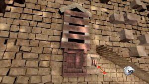 appena fuori l'ingresso che conduce alla camera del re (nascosta all'interno della grande piramide di Giza), i costruttori scolpivano una serie di scanalature e posizionavano tre blocchi di granito enormi (freccia rossa). Non appena la mummia del re veniva messa al sicuro all'interno della camera i costruttori facevano cadere verso il basso tali blocchi per sigillarne l'ingresso. Credits: Science Channel, screenshot