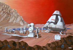 Ecco come la NASA immagina la prima colonizzazione di Marte: il Pianeta Rosso appare l'obiettivo più abbordabile per la colonizzazione di un pianeta extraterrestre (Les Bossinas/NASA Lewis Research Center)