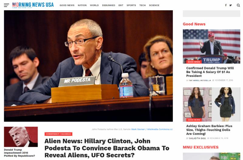 PRG: Comunicato stampa, 17 novembre 2016, la scelta della Clinton