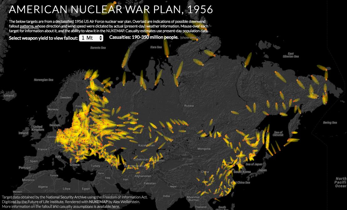 Un documento del 1956 fa luce sul piano nucleare Usa per porre fine alla Guerra Fredda