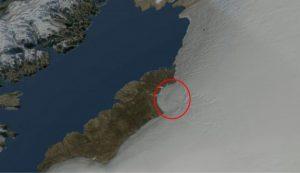 Groenlandia: sotto i ghiacci un enorme cratere 1