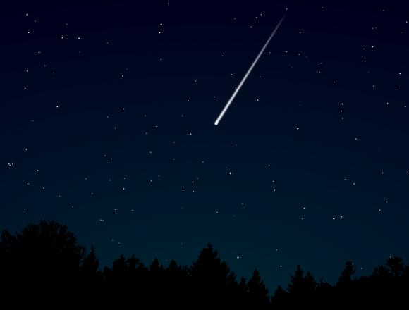 Le stelle cadenti sulla Terra piatta