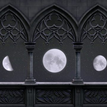 Il moto della luna sulla Terra piatta