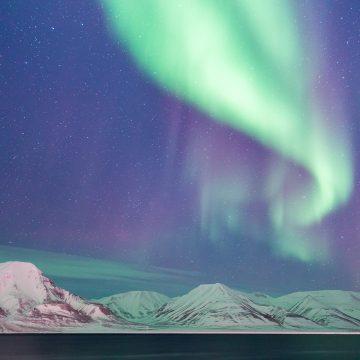 L' aurora boreale sulla Terra piatta