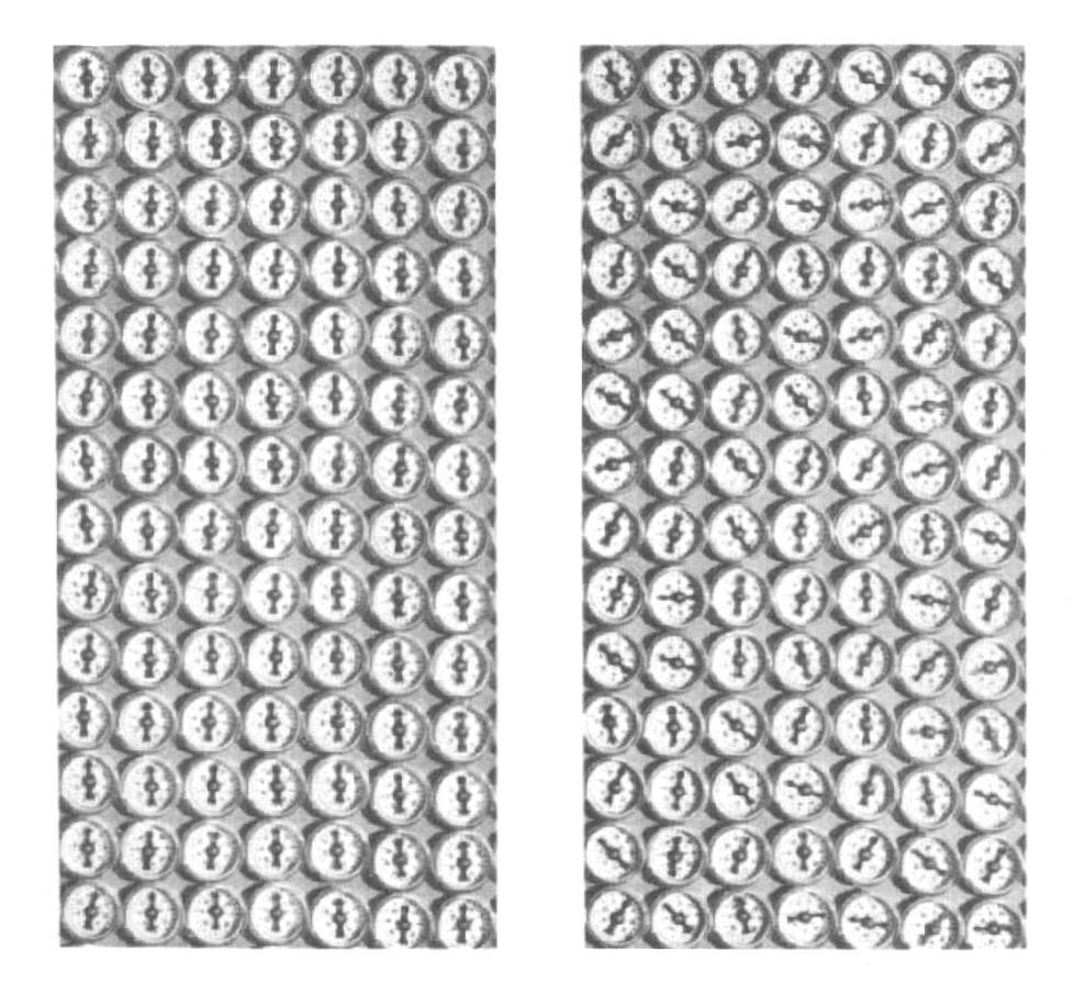 10: Due casi di sistemi di bussole magnetiche.