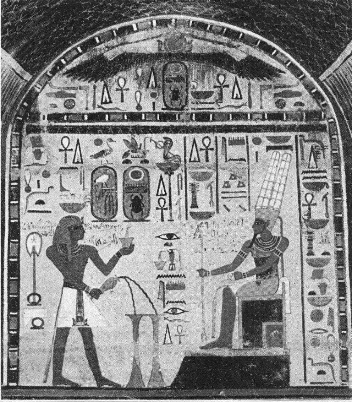 Affresco della cappella funeraria di Thutmose III (sec. XV a.C.)